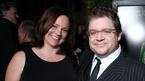 "Michelle Eileen McNamara and Patton Oswalt pose as Paramount Pictures presents the Los Angeles Premiere of ""Young Adult"" at the Academy of Motion Picture Arts & Sciences in Beverly Hills, CA on Thursday, December 15, 2011.