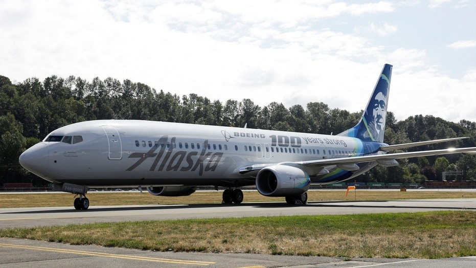 An Alaska Airlines plane is pictured in Seattle, July 15, 2016.