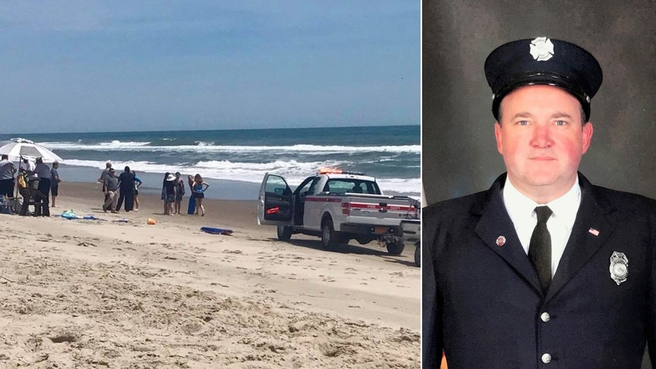 Oswego Firefighter/Medic Sean O'Gorman saved three girls who were caught in a rip current off the North Carolina coast while on vacation with his family.