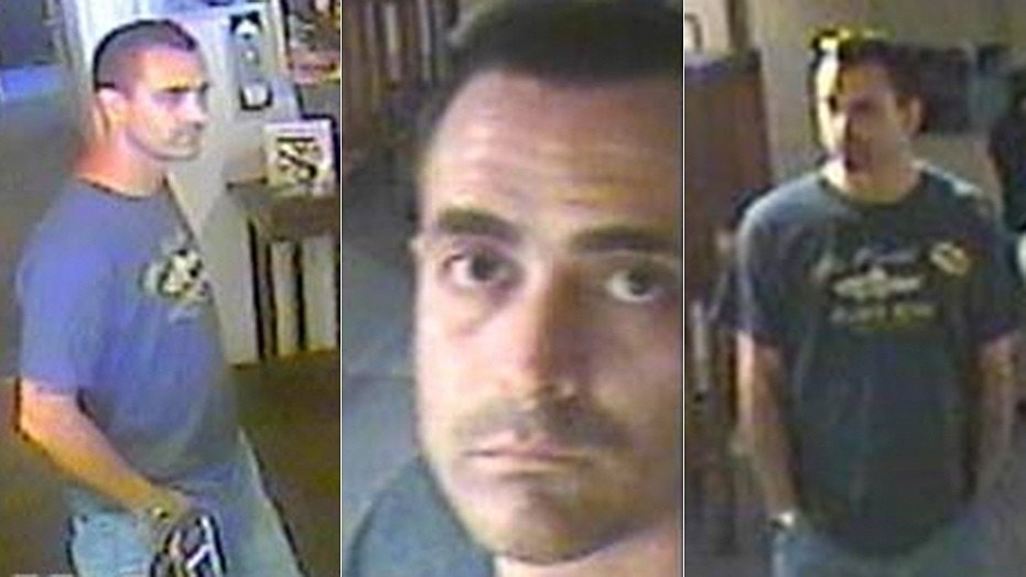Richard Johnson, 41, was captured on security video at Mel Fisher Maritime Heritage Museum the day a rare gold bar was stolen.