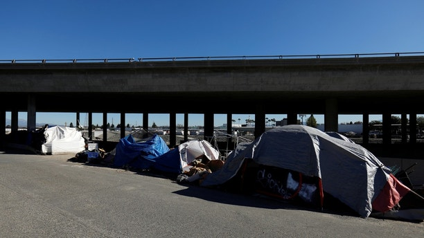 City officials have begun what they are calling a slow and methodical clean-up and removal of a large homeless encampment along the Santa Ana River Trail in Anaheim, California, U.S., January 22, 2018.      REUTERS/Mike Blake - RC1A577F6930