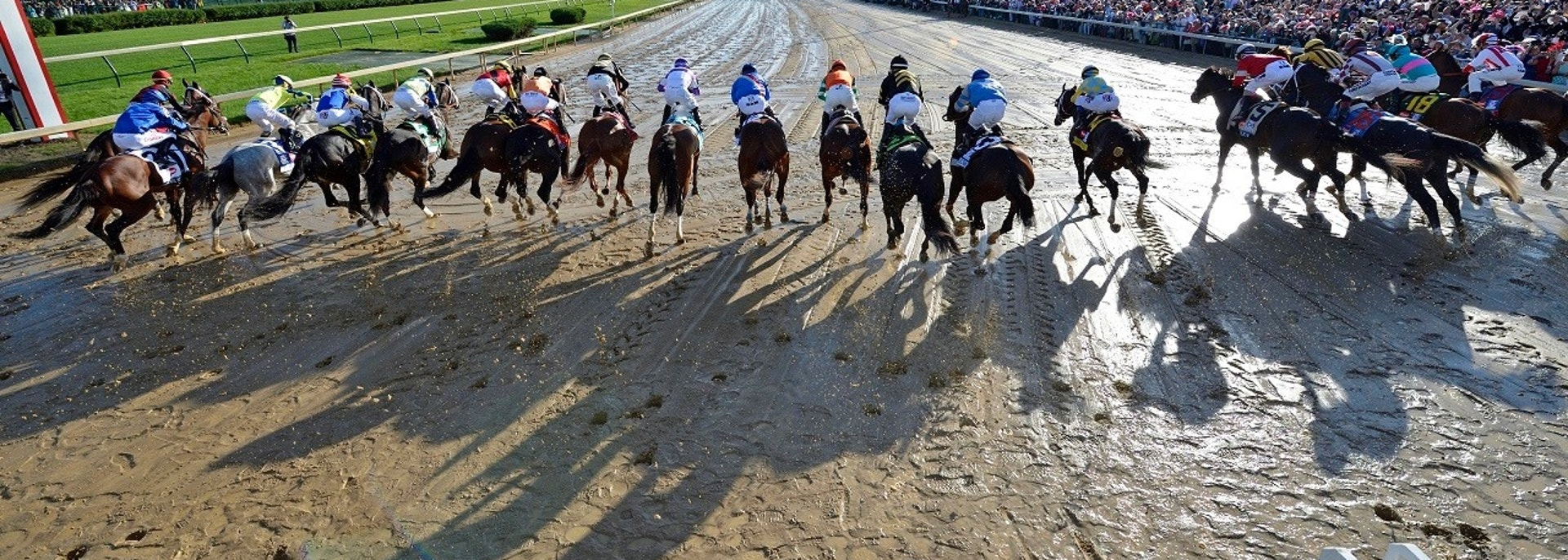 May 6, 2017; Louisville , KY, USA; Horses break from the starting gates during the 2017 Kentucky Derby at Churchill Downs. Mandatory Credit: Jamie Rhodes-USA TODAY Sports - 10045775