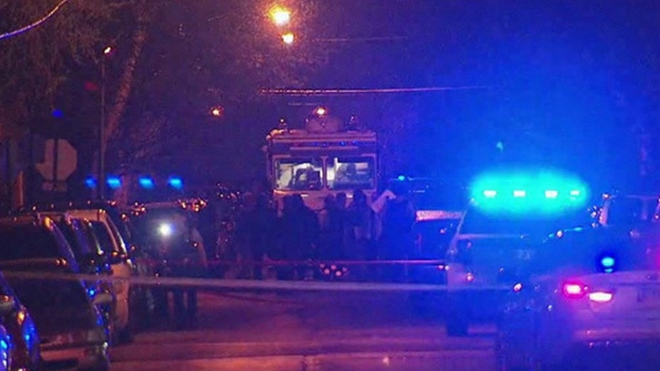 The scene after an ATF agent was shot early Friday in Chicago.