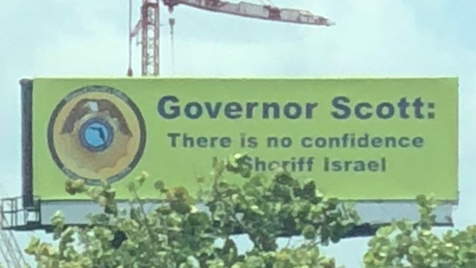 A billboard put up in South Florida is criticizing Broward County Sheriff Scott Israel, who has been blamed for his department's handling of the Valentine's Day high school shooting.