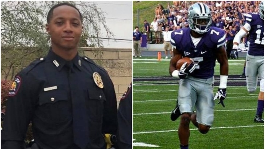 Officer Kip Daily, a former defensive back at K-State, chased after and caught the suspected robber.