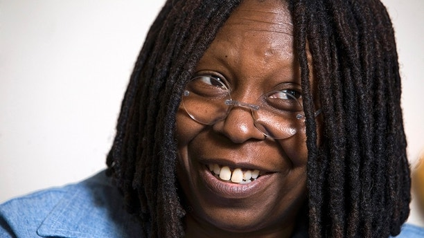 """Whoopi Goldberg responds during an interview in her dressing room in New York Thursday July 31, 2008. Goldberg, 52, a co-host on the ABC's """"The View,"""" is spending her six-week vacation from the TV show to star in the Tony-nominated roller-skating musical """"Xanadu"""" on Broadway as one of the show's evil sisters, Caliope. (AP Photo/Richard Drew)"""