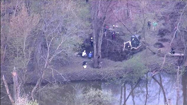 The search of the property could take several days, police said.  (WJBK)
