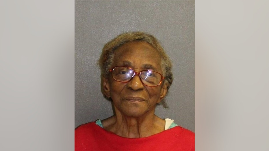 Hattie Reynolds, 95, was arrested after she slapped her granddaughter in the face with a slipper, police said.