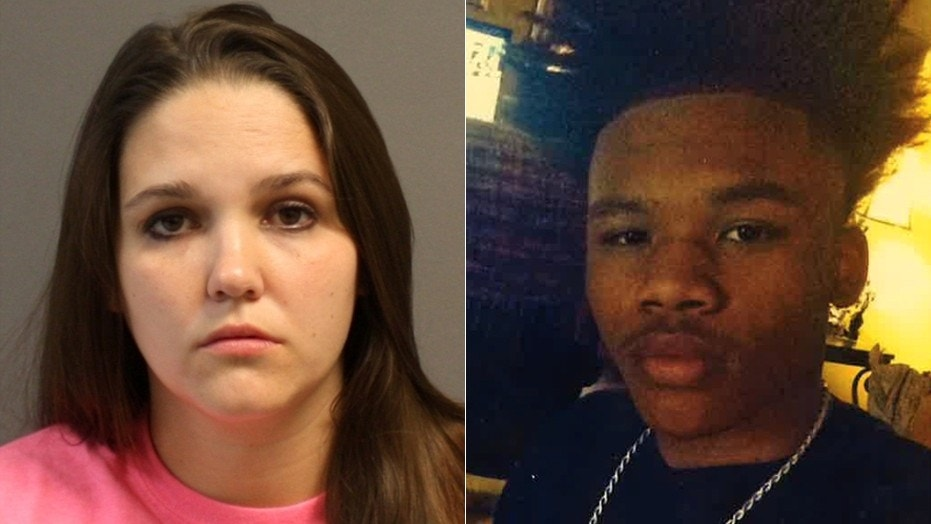 Nicole Jackson, left, is being sought by police after allegedly running off with 16-year-old Oscar O'Neal.