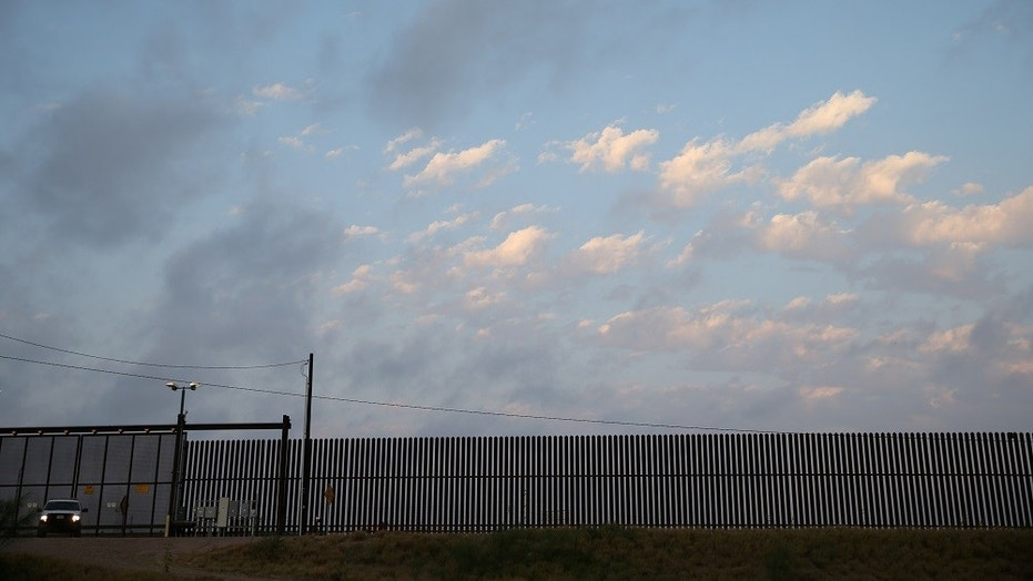 A U.S. Border Patrol agent guarding a section of the Mexico-U.S. border in Texas, April 13,  2018.