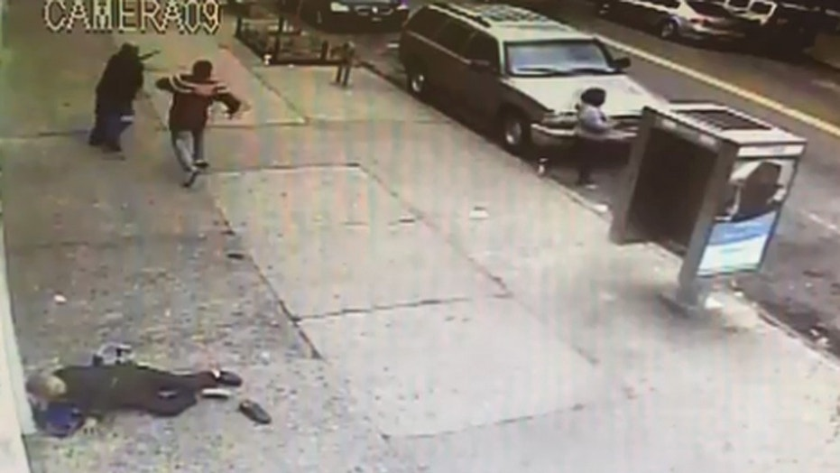 A Brooklyn man is being hailed a hero after confronting a man police said sucker punched two women.