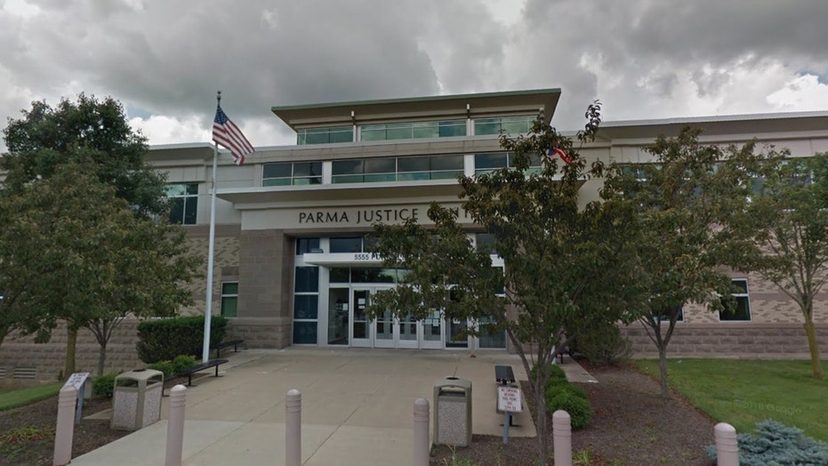 "Parma Justice Center (pictured) sits adjacent to the Parma Police Department where Jason Shorter, 41, surrendered himself to police after allegedly admitting to committing ""a crime."""