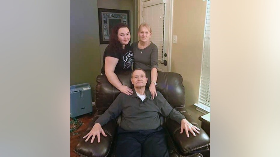 This photo provided by Eric Sanders shows Texas shooting victim Cynthia Tisdale, top right, with her husband, Recicie Tisdale, center and niece Olinde, left.