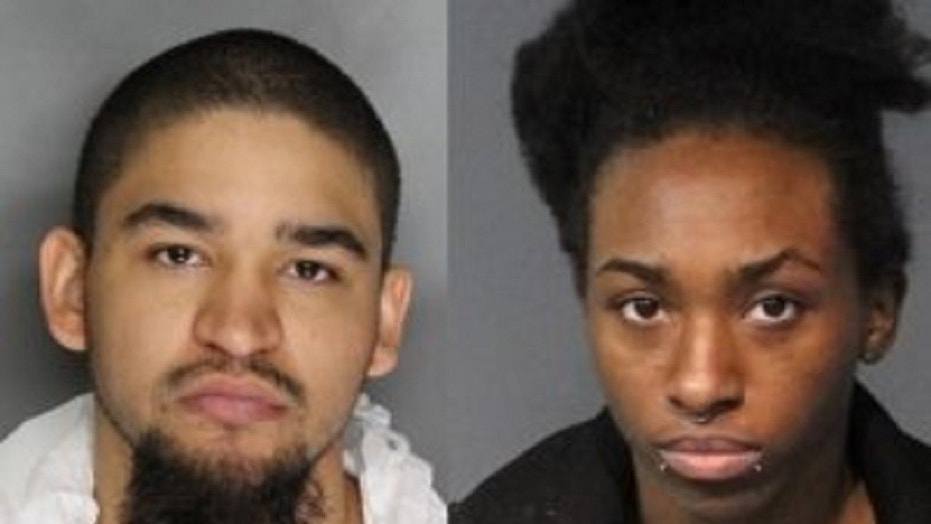 Tyler Anderson, left, and Averyauna Anderson were arrested Wednesday on charges related to the death of Tyler's 5-year-old daughter, police said.
