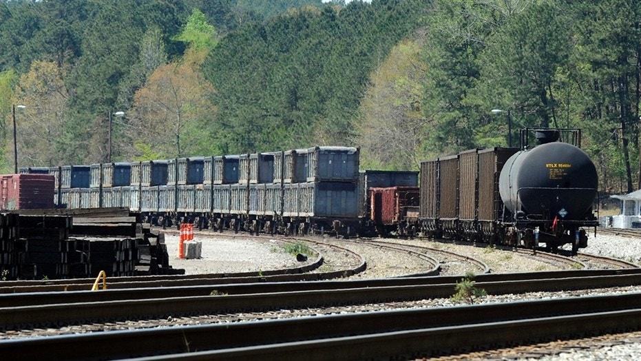 """Febreze handed out samples of its air freshening and odor-eliminating products to residents in Parrish, Alabama, last week after the so-called """"poop train,"""" which traveled from New York City in February, was stranded in the small town."""
