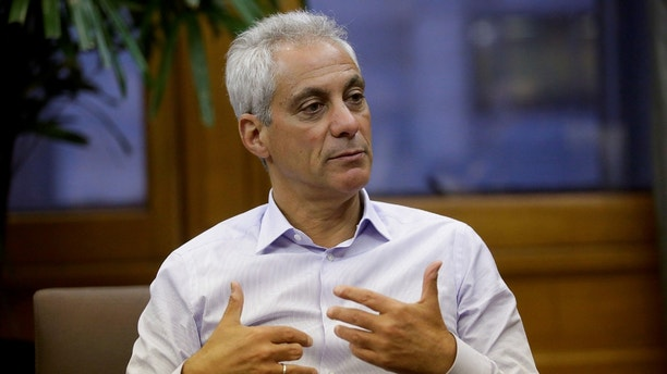 Chicago Mayor Rahm Emanuel speaks during an interview at City Hall in Chicago, Illinois, U.S. June 14, 2017. REUTERS/Joshua Lott - RC1AED95A1B0