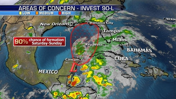 High chance for a tropical system to form in the Gulf