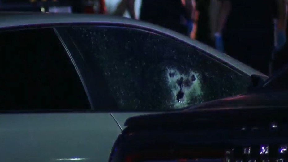 A San Antonio off-duty police officer was shot six times in a street rage event, officials said.