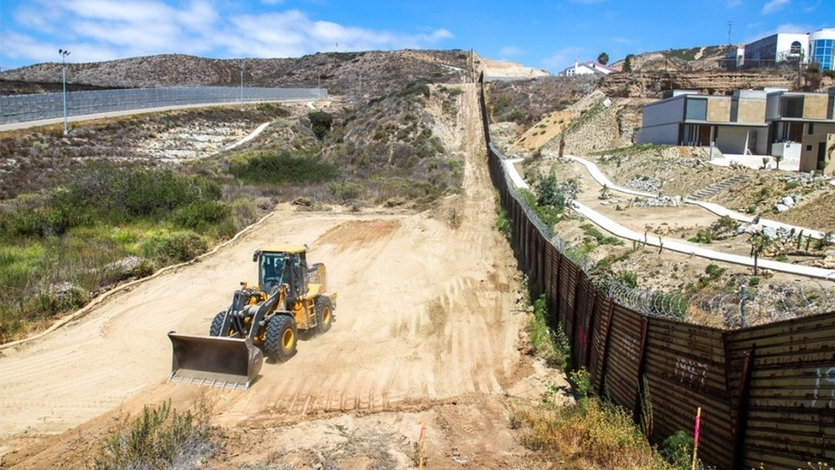 The CBP said construction work began Friday on a section of the U.S. border wall in San Diego.