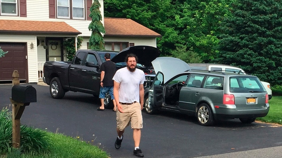 June 1, 2018: Michael Rotondo, 30, prepares to leave his parents' house in Camillus, N.Y.