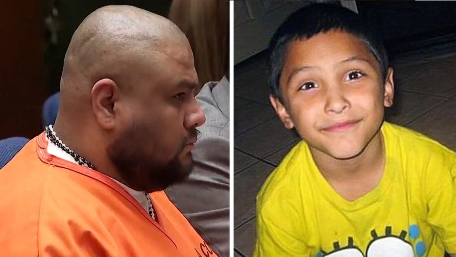 Isauro Aguirre, left, was given the death sentence on Thursday for beating, starving, torturing and ultimately killing his girlfriend's 8-year-old son, Gabriel Fernandez, right.