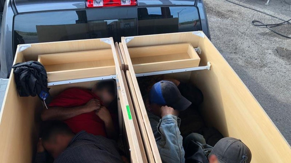 Texas border patrol agents find 6 illegal immigrants trapped inside cabinets