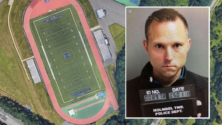 Thomas Tramaglini, 42, was arrested and charged with lewdness, littering and defecating in public, police said.  (Google Maps/Holmdel Township Police Department)