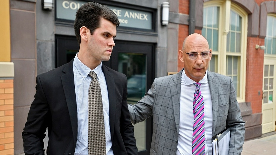 Ryan Burke, a former Beta Theta Pi brother, pleaded guilty for his role in Timothy Piazza's death at the Centre County Courthouse Annex on Wednesday in Bellefonte, Pa.