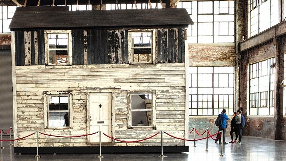 April 1, 2018: Visitors view the rebuilt house of Rosa Parks at the WaterFire Arts Center in Providence, R.I.
