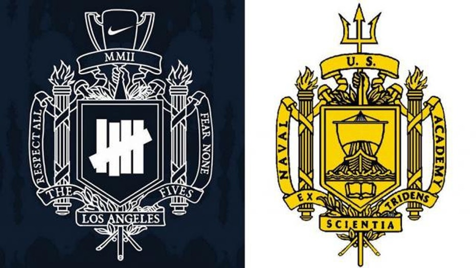 Nike apologizes on Friday for a new sportswear line logo that resembles that of the U.S. Naval Academy.