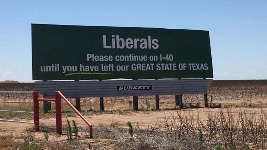 Texas billboard tells liberals to keep driving until they leave the state – Trending Stuff