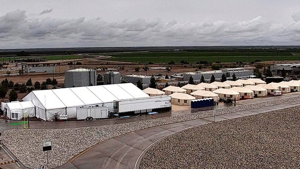 This undated photo provided by HHS' Administration for Children and Families shows the shelter used to house unaccompanied foreign children in Tornillo, Texas. (HHS' Administration for Children and Families via AP)