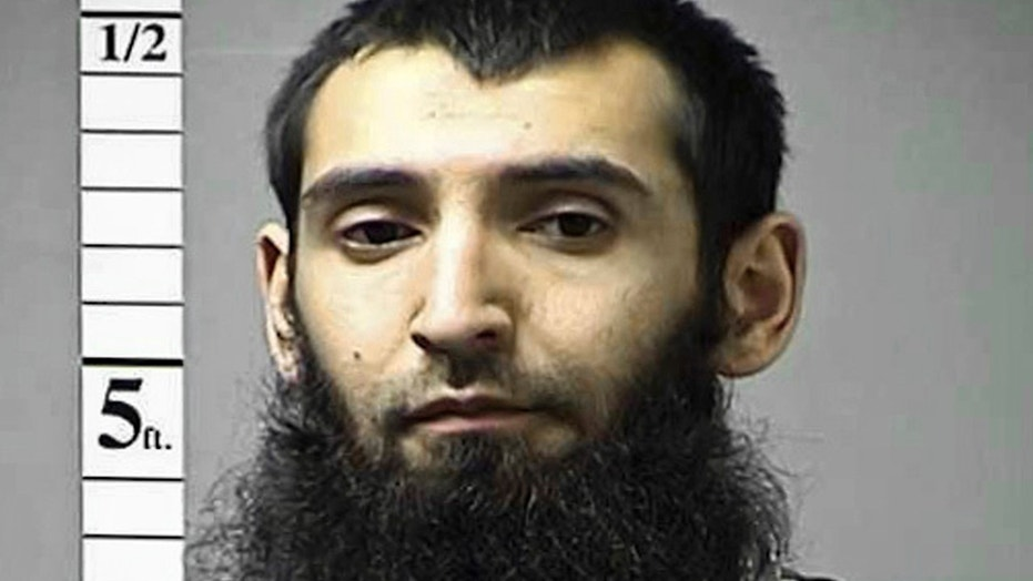 "Undated booking photo of Sayfullo Saipov at  St. Charles, Mo. Saipov, charged with murdering eight people on a New York City bike path and injuring many more spoke out in court Friday, June 22, 2018, over a prosecutor's objection, invoking ""Allah"" and defending the Islamic State."