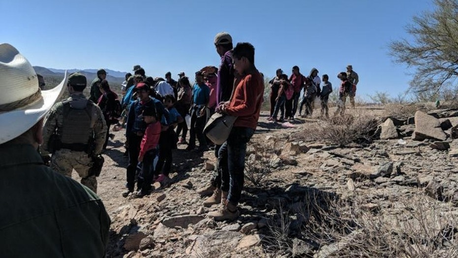 Dozens of illegal immigrants were found during a 108-degree heatwave on Friday in the Arizona desert after their smugglers had abandoned them.