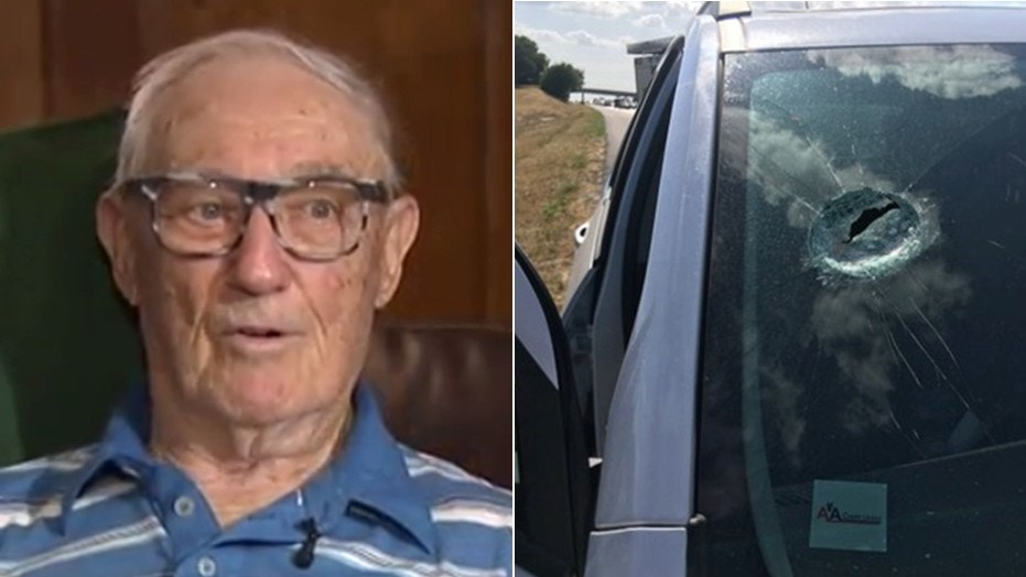 Raymond Mikeska was hit by a rock thrown from an overpass along Interstate-30 near Fort Worth.