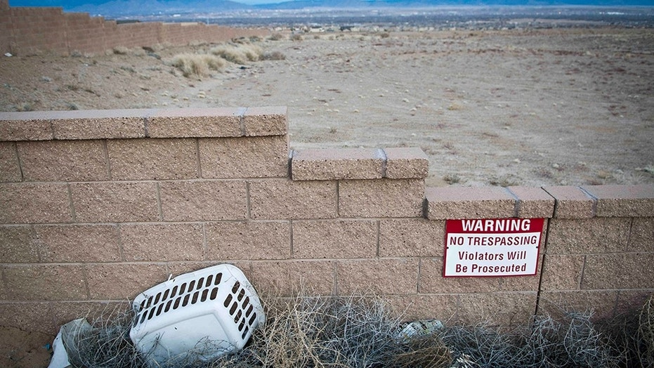 This 2015 image shows the site where 11 women, victims of the so-called West Mesa murders, were found in Albuquerque, N.M.