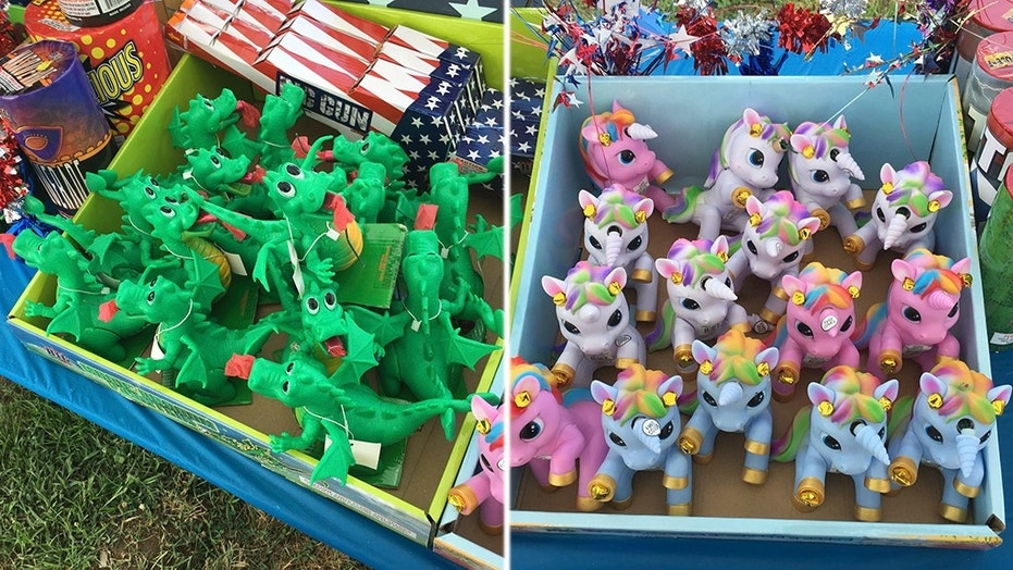 North Carolina fire officials are warning parents of the dangers surrounding fireworks modeled like children's toys.