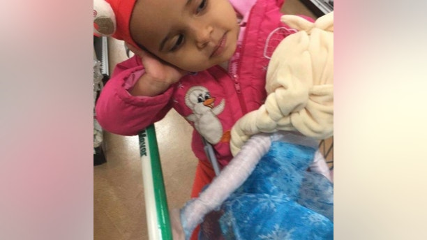This undated photo provided by Recep Seran shows his daughter Ruya Kadir. The 3-year-old Idaho girl who was stabbed at her birthday party died Monday, July 2, 2018, two days after a man invaded the celebration and attacked nine people with a knife, authorities said. (Courtesy of Recep Seran via AP)