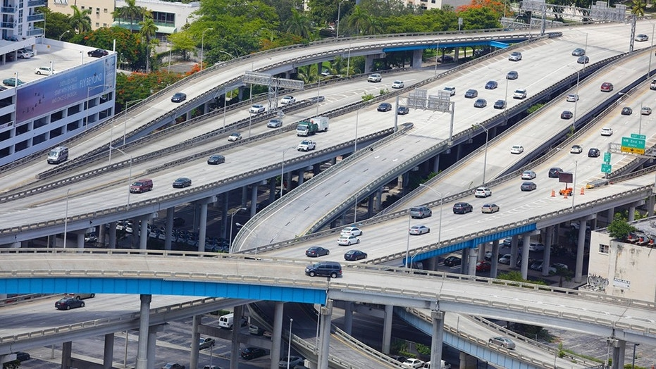 The I-95 highway in Miami where the accident occurred.