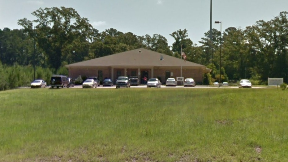 A Mississippi man stabbed his mother and grandmother in the Social Security office in McComb, Miss., Monday, and was then shot to death by a security guard, officials said.