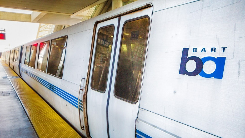 A San Francisco news anchor filmed a homeless man appearing to use drugs on a BART train.