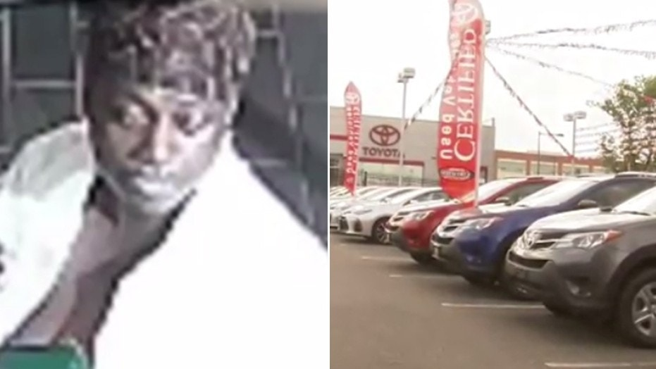 Philadelphia police are looking for this woman, whom they say stole a car off a dealership lot.