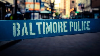 Retro Style Photo Of A Poice Riot Barrier In Baltimore