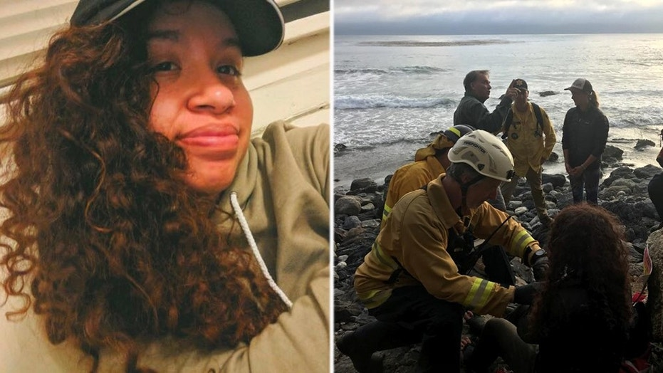 Angela Hernandez, 23, of Oregon, was found 200 feet down a cliff Friday, somehow surviving after crashing her vehicle in California's Big Sur a week ago.