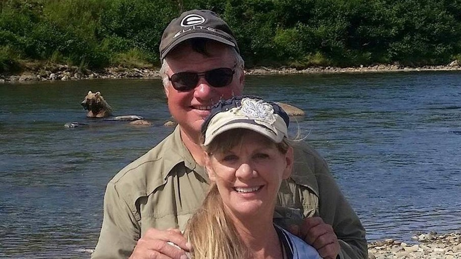 """Larry Dean Isenberg was found dead in a lake in March and his wife Laurcene """"Lori"""" Barnes Isenberg has been missing."""