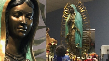 Weeping Virgin Mary statue