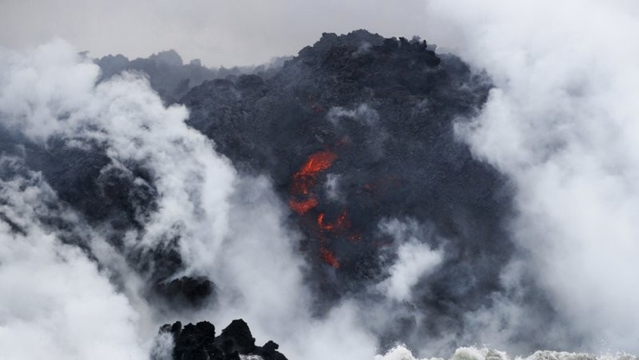 Lava 'bomb' strikes tour boat injuring 22 people near Kilauea Volcano