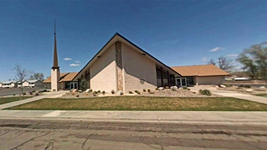 One person is dead and another wounded in a shooting at a Church of Jesus Christ of Latter-day Saints meetinghouse Sunday in Fallon, Nev. The suspect is in custody, authorities said. (Google Maps)
