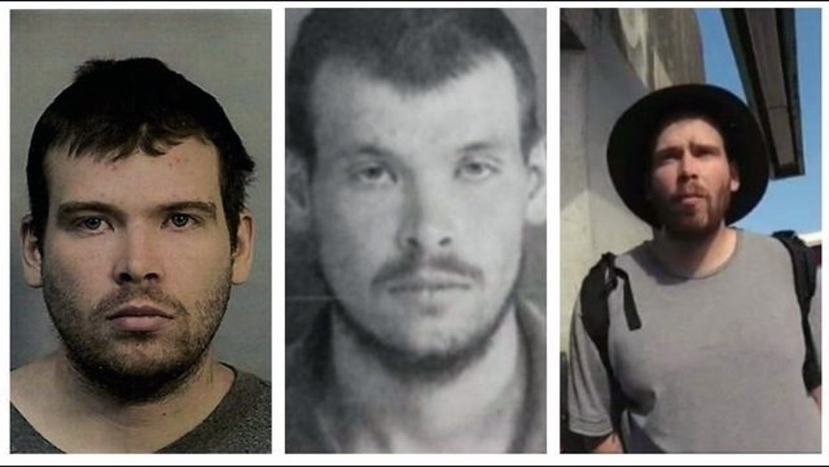 These images show John Cowell, who is accused in a deadly stabbing at an Oakland train station Sunday night.