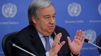United Nations Secretary-General Antonio Guterres takes part in a news conference at the United Nations headquarters in New York, U.S., June 20, 2017. REUTERS/Lucas Jackson - RTS17WQU